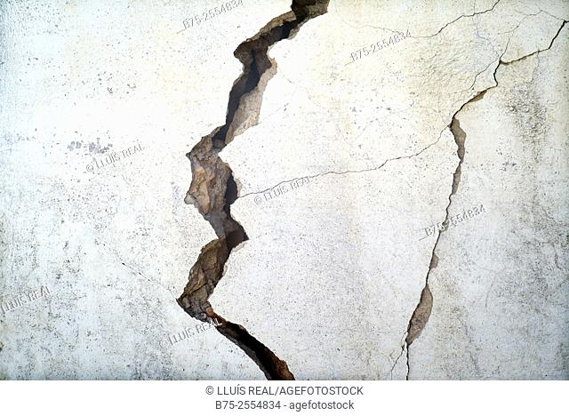Crack in a wall. Fez, Morocco, Africa