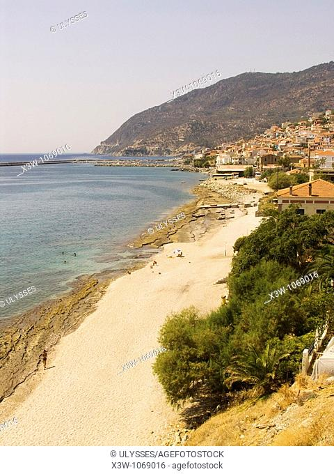 plomari, lesbos island, north west aegean, greece, europe