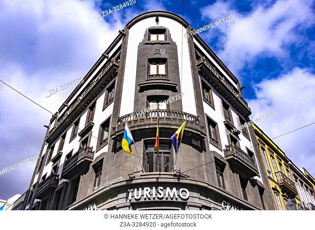 Tourist office in the city center of Las Palmas de Gran Canaria, Canary Islands