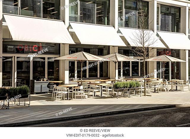 Building facade. Obica Restaurant, London, United Kingdom. Architect: Labics, 2016