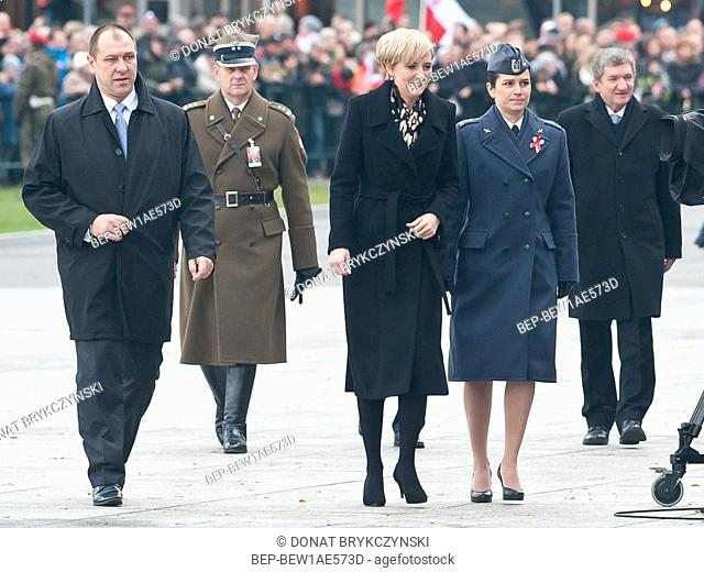November 11, 2015 Warsaw, Poland. National Independence Day. Pictured: First Lady Agata Kornhauser Duda