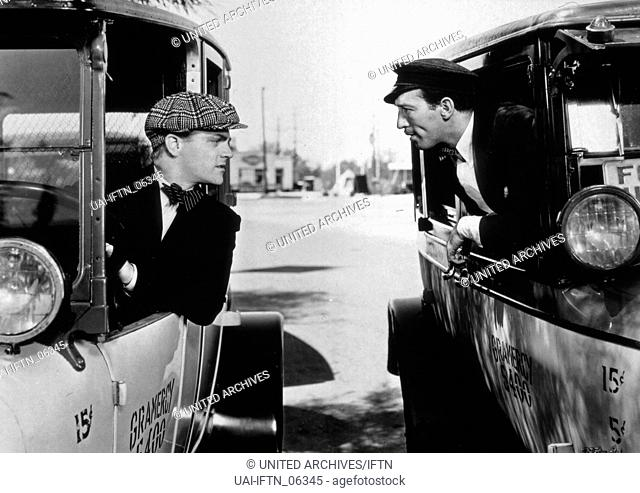 Taxi!, USA 1932, Regie: Roy Del Ruth, Darsteller: James Cagney (links), George E. Stone
