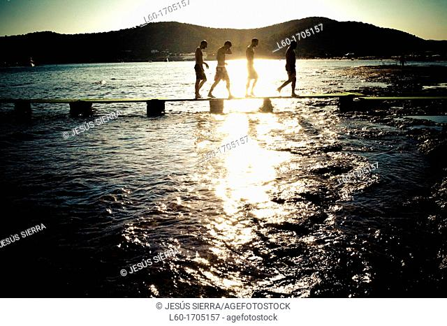 People in Ibiza, Balearic Islands, Spain