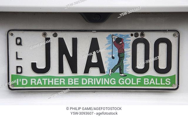 Personalised licence plate, Sunshine Coast, Queensland, Australia