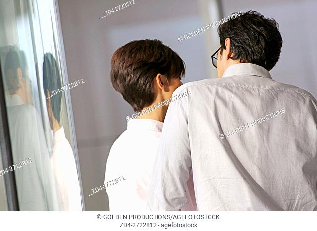 Rear view of Businesspeople