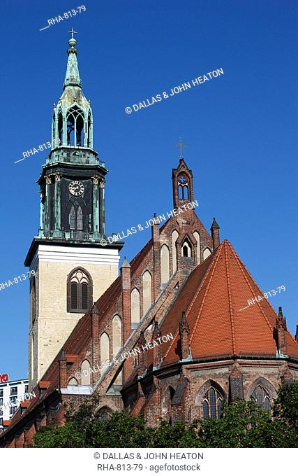 Marienkirche St. Mary's Church, Alexanderplatz, Berlin, Germany, Europe