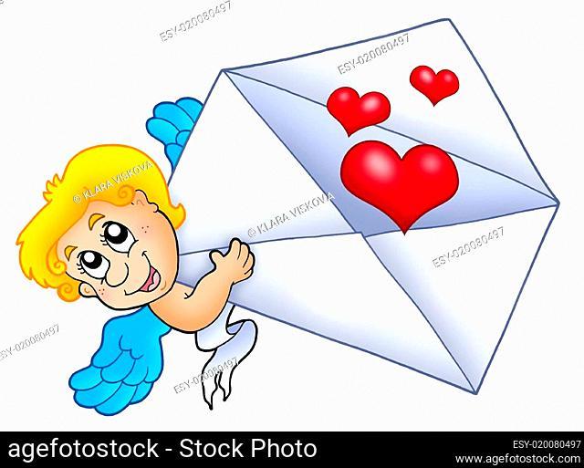Cupid holding envelope 2