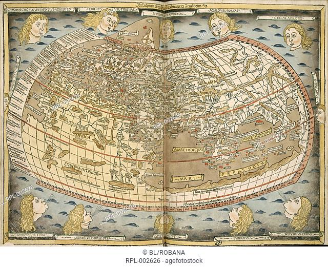 Ptolemy World Map Stock Photos And Images Age Fotostock