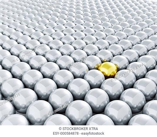 3D render depicting standing out from the crowd