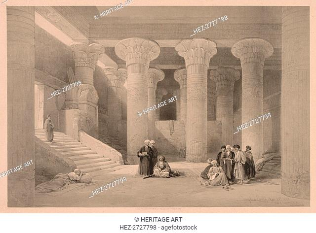 Egypt and Nubia: Volume I - No. 24, Temple at Esneh, 1838. Creator: Louis Haghe (British, 1806-1885)