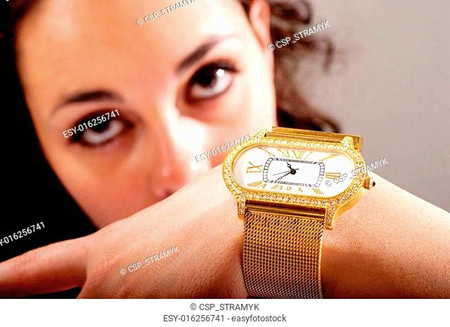 Clock and jewellery