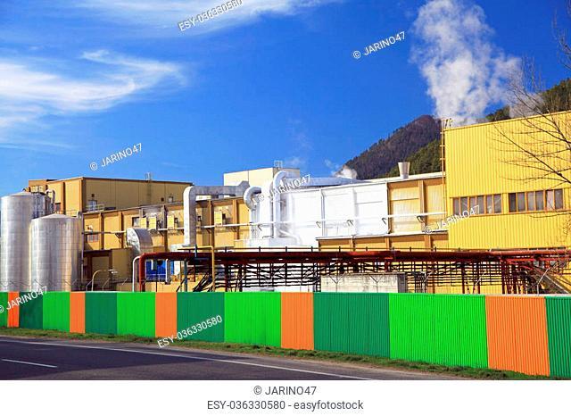 Factory Mondi in city Ruzomberok, Slovakia