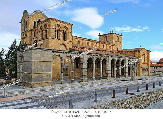 Romanesque basilica of San Vicente. Ávila. Castilla y León. Spain
