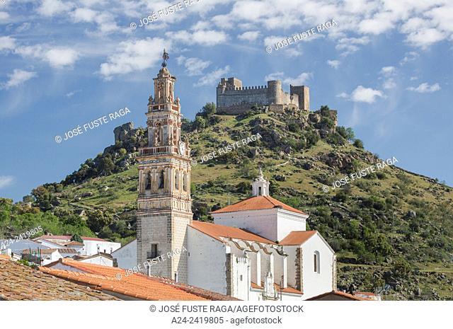 Spain , Extremadura Region , Burguillos del Cerro City, Burguillos Church and Castle