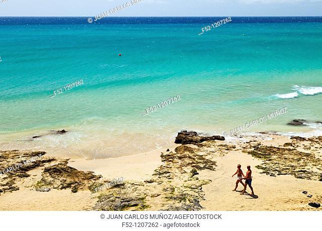 Playa Esmeralda beach, Jandia peninsula, Fuerteventura, Las Palmas, Canary Islands, Spain