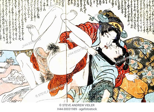 Japan, Shunga Erotic Art Woodblock Prints