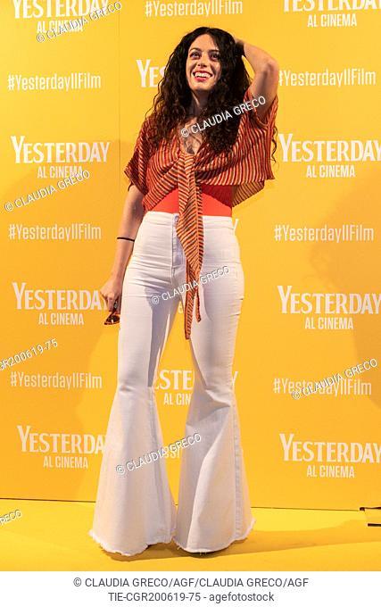 Angelica during the photocall of film ' Yesterday ' in Milan, ITALY-20-06-2019