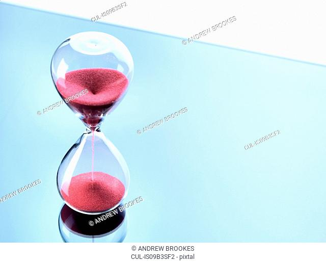 Hourglass measuring time