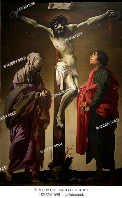 """The Crucifixion with the Virgin and Saint John"", 1625, by Hendrick ter Brugghen (1588-1629)"