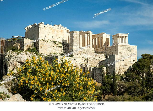 Spring afternoon at Acropolis hill, Athens, Greece