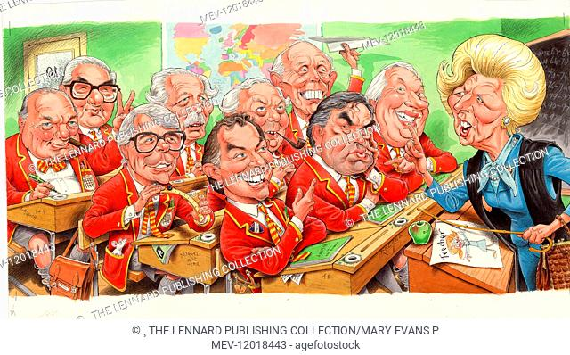 Winston Churchill, James Callaghan, John Major, Harold Macmillan, Tony Blair, Harold Wilson, Alec Douglas Hume, Gordon Brown, Ted Heath