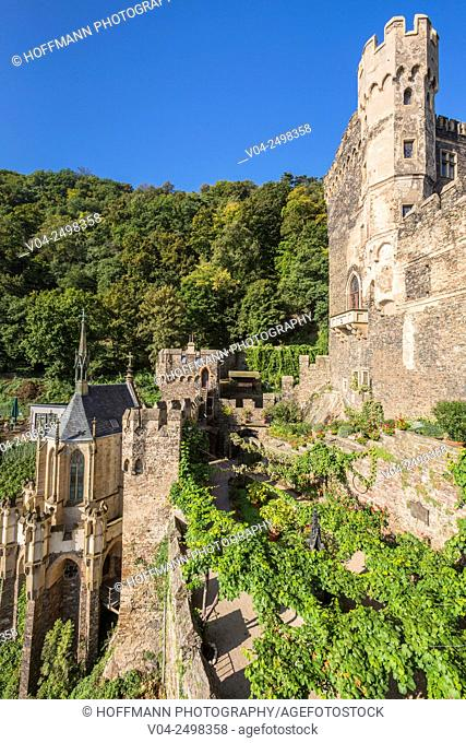 14th century Rheinstein castle, Rhineland-Palatinate, Germany, Europe