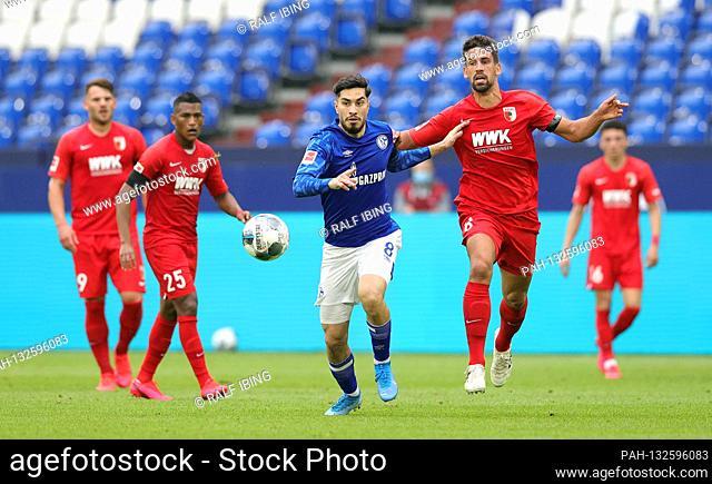 firo, football: 24.05.2020 1.Bundesliga, season 19/20 2019/2020 27. matchday: FC Schalke 04 - FC Augsburg 0: 3 Suat SERDAR
