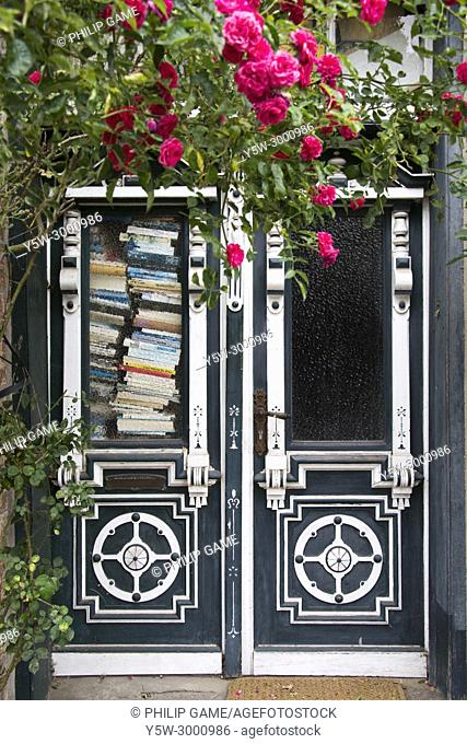 Doorway to a room full of books at Eutin, Holstein, Germany