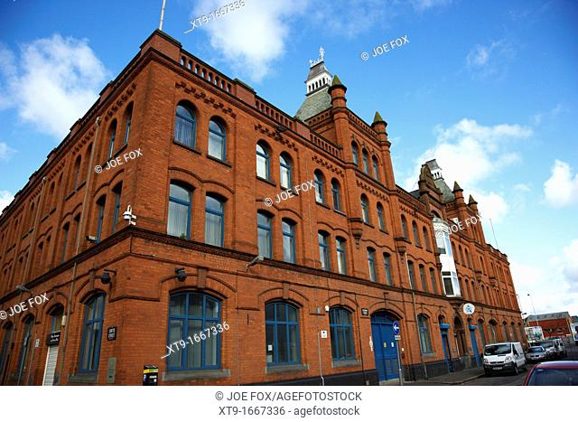 belb belfast education and library board headquarters building academy street Belfast Northern Ireland UK  The building was originally a warehouse and offices...
