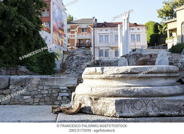 Roman Odeon of the old city Philippopolis. Plovdiv, Bulgaria