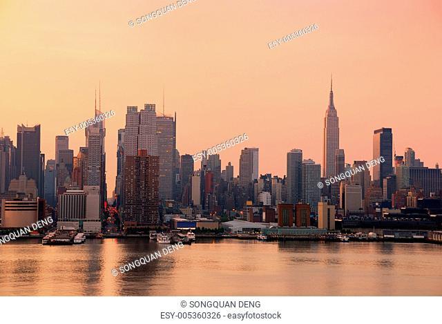 Urban City skyline, New York City