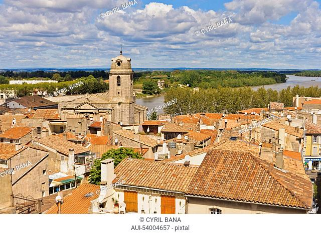 France, Arles, cityscape, rooftops, landscape
