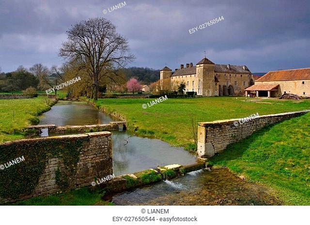 Chateau Ozenay in Burgundy, France