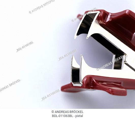 Detail of stapler looking like an open mouth