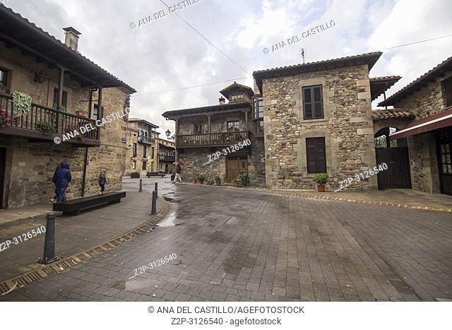 Palaces in Lierganes village Pasiegos valley Cantabria Spain