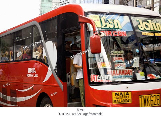 Public bus on Ayala Avenue, Makati, Philippines