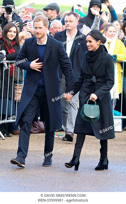 Prince Harry and Meghan Markle visit Cardiff Castle during their first visit to Wales together Featuring: Prince Harry, Meghan Markle Where: Cardiff, Wales
