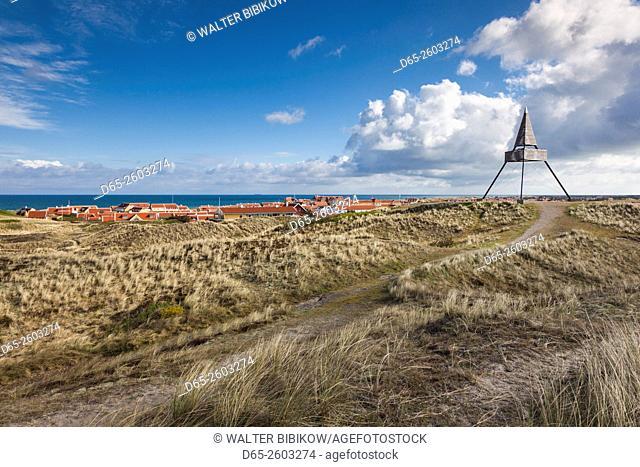 Denmark, Jutland, Gamle Skagen, Old Skagen, old navigational tower
