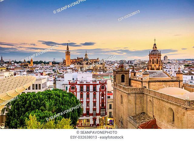 Seville, Spain old town skyline
