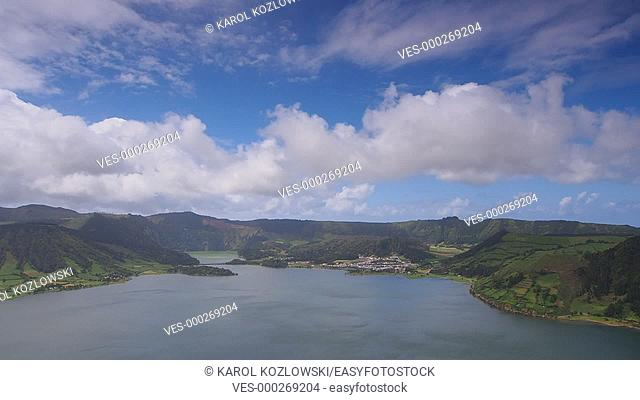 Lagoa das Sete Cidades - Lagoon of the Seven Cities, lake on Sao Miguel Island, Azores, Portugal