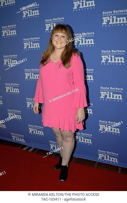 Morgan Dameron attends the 32nd Santa Barbara International Film Festival at the Arlington Theatre in Santa Barbara, California on February 2nd, 2017