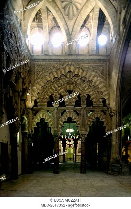 Mihrab Hall at the Cordoba Great Mosque, by Mozarabic craftsmen, 971-976, 10th Century, carved stone and marble. Spain, Cordoba. Whole artwork view