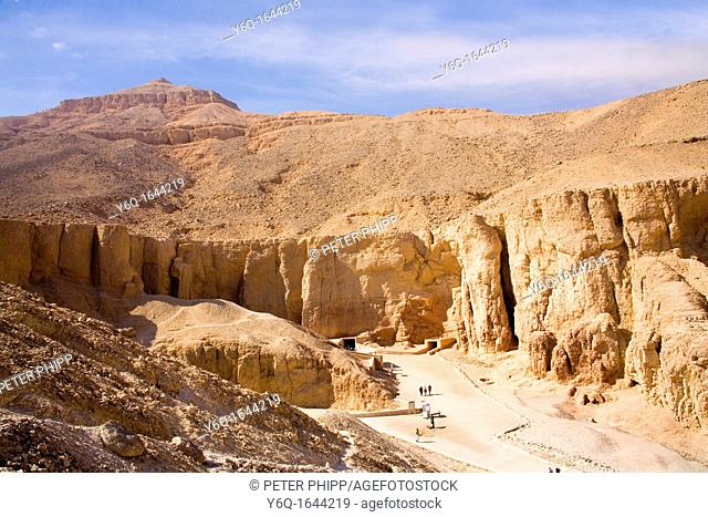 The spectacular Valley of Kings, on the West Bank at Luxor in Egypt