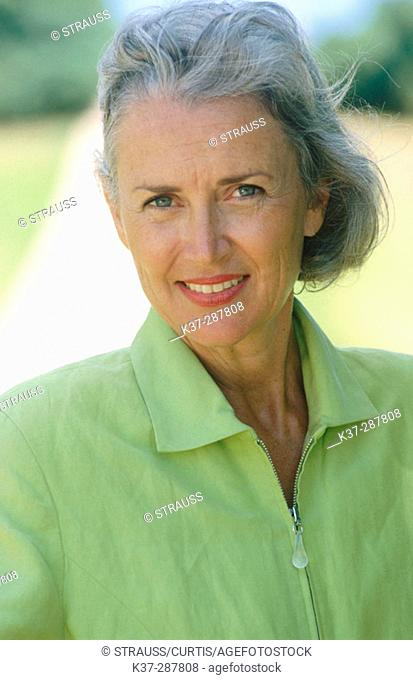 Smiling mature woman portrait