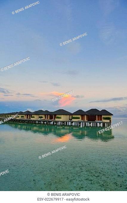 tropical water home villas