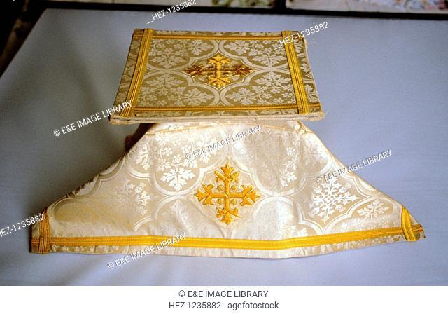 Communion burse and veil, All Saints Church, Milton Ernest, Bedfordshire