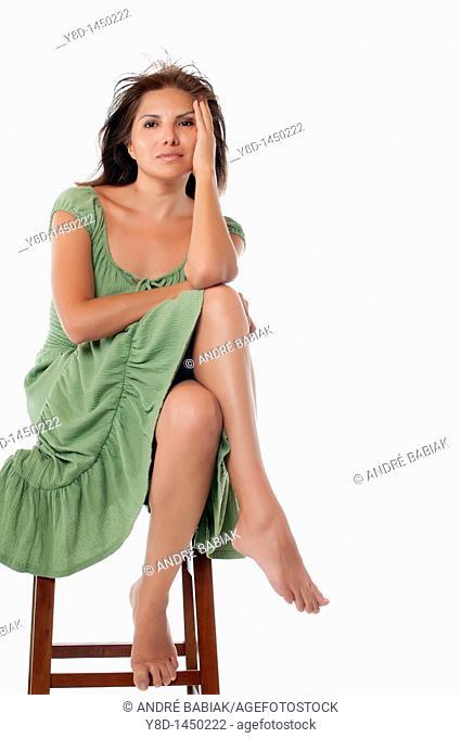 Portrait of attractive mature hispanic woman
