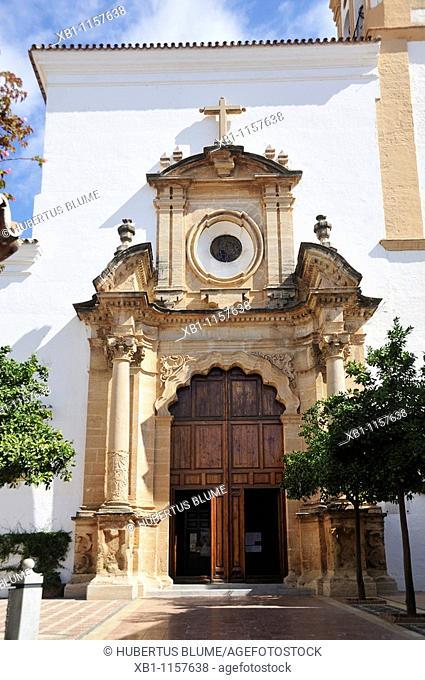 Parroquia Ntra Sra de la Encarnacion, church at Plaza de la Iglesia, Marbella, Costa del Sol, province Malaga, Andalucia, Andalusia, Spain, Europe