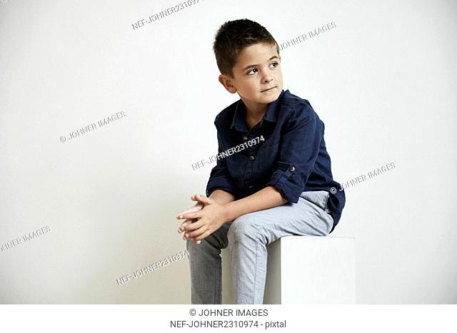Boy looking away