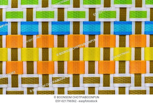Background of plastic weave texture